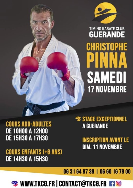 Stage combat avec Christophe Pinna